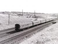 A Glasgow bound InterCity DMU passing Dalry (near Roche Products) in the Spring of 1967.<br> <br><br>[Colin Miller&nbsp;//1967]