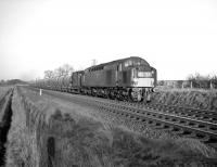 An EE Type 4 with 4S37, the 2.35am Cliffe - Uddingston cement train, nearing Drem in the 1960s.<br><br>[Robin Barbour Collection (Courtesy Bruce McCartney)&nbsp;//]