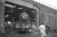 Preserved A3 Pacific no 4472 <I>Flying Scotsman</I> on shed at Hull Dairycoates on 21 September 1968, having arrived in the city with the LCGB's <I>East Riding Ltd</I> from Kings Cross.<br><br>[K A Gray&nbsp;21/09/1968]