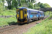 An East Kilbride - Glasgow Central service departs Thorntonhall on 22 May.<br><br>[John Steven&nbsp;22/05/2009]
