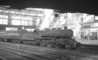 Ivatt class 4MT no 43045 photographed shortly after arrival at Carlisle on 7 March 1964 with the 10.48 branch train from Langholm.<br><br>[K A Gray&nbsp;07/03/1964]