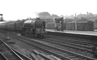 A1 Pacific 60116 <I>Hal O' the Wynd</I> takes the 9.04am Sunderland - Kings Cross through Doncaster in the summer of 1962.<br><br>[K A Gray&nbsp;28/07/1962]