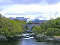 45231 crosses Morar Viaduct with <I>The Jacobite</I> in May 2009.<br><br>[John Robin&nbsp;21/05/2009]