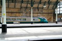A Hull Trains class 222 about to leave its home city on 23 April on a 2 hour 40 minute journey to Kings Cross<br> <br><br>[John Furnevel&nbsp;23/04/2009]