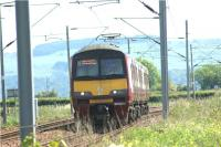 320301 heads west from Cardross and is seen between Brooks LC and Ardmore East LC on 1 June 2009 with a service for Helensburgh Central.<br><br>[John McIntyre&nbsp;01/06/2009]