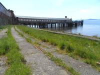 Some of the track of the old pier sidings still in place at Wemyss Bay on 1 Jun 2009. The last of the sidings was used to stable tanks providing fuel for the ferries.<br><br>[David Panton&nbsp;01/06/2009]