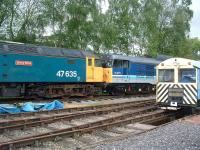 47635 and 31270 in the sidings at the Peak Rail Centre, Rowsley, on 27 May 2009. <br><br>[Colin Alexander&nbsp;27/05/2009]