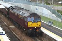 <I>The Royal Scotsman</I> runs through Markinch on 5 June 2009.<br><br>[Brian Forbes&nbsp;05/06/2009]