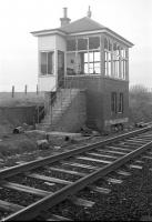 The abandoned signal box at Borthwick Bank on the Waverley Route, a short time after closure in July 1968.<br><br>[Robin Barbour Collection (Courtesy Bruce McCartney)&nbsp;//1968]