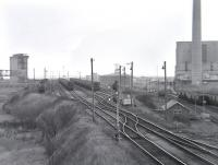 The sidings serving the west coal staithes at Blyth, photographed in 1987 [with thanks to John Watt]. [See image 39288]<br><br>[Bill Roberton&nbsp;//1987]