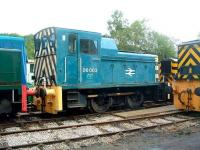 The class 06 DM shunters were built by Andrew Barclay at the end of the 1950s for use on BR Scottish Region. Seen here at the Peak Rail Centre, Rowsley, on 27 May 2009 is no 06 003, thought to be the last surviving member of the class.  <br><br>[Colin Alexander&nbsp;27/05/2009]