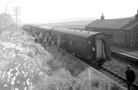 The <I>Formartine and Buchan Excursion</I> on a photostop at Arnage on 24 May 1969. View is south towards Ellon, with D5323 at the head of the train.<br><br>[A Snapper (Courtesy Bruce McCartney)&nbsp;24/05/1969]