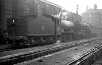 65929 and 60955 stabled alongside the south wall of St Margarets shed around 1962.<br><br>[K A Gray&nbsp;//1962]