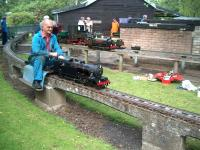 A group of railway modelling enthusiasts at Hammonds Pond, Carlisle, in June 2007.<br><br>[Brian Smith&nbsp;10/06/2007]