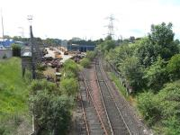 Looking towards Portobello Junction from the South Leith branch on 3 June 2009 past the VAE Baileyfield switch and crossing works. <br><br>[David Panton&nbsp;03/06/2009]