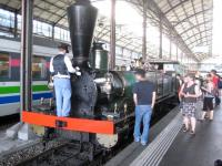 A steam special at Lucerne station on 23 May 2009. That day there were celebrations taking place commemorating the 150th anniversary of the opening of the station.<br><br>[Bruce McCartney&nbsp;23/05/2009]