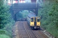 <I>And how many times has it been back to Ormskirk since?</I> Pioneer EMU 507001 leaves Ormskirk for Liverpool in Summer 1980. In 2013 it is still employed on Merseyrail Electric duties, albeit now for a private TOC rather than British Rail. <br><br>[Mark Bartlett&nbsp;//1980]