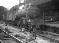 York V2 2-6-2 no 60837 is held at Newcastle Central around 1960 with a northbound freight.<br><br>[K A Gray&nbsp;//1960]