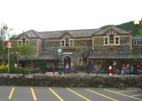 The impressive station frontage at Betws-y-Coed, seen on 12 June 2009. <br><br>[David Pesterfield&nbsp;12/06/2009]