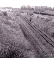 View north towards Kilbarchan station in 1974.<br><br>[Colin Miller&nbsp;//1974]