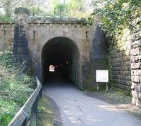 The original railway tunnel at Grosmont in April 2009, now used as a pedestrian route between the station and shed (far end). [See image 24121]<br><br>[John Furnevel&nbsp;24/04/2009]