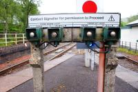 Push button route selector at Crianlarich on 15 June 2009.<br> <br><br>[David Forbes&nbsp;15/06/2009]