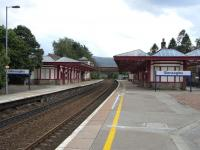 Looking south along the platforms at Gleneagles in June 2009. Hard to believe it has been unstaffed for 25years or so and has no CCTV. <br><br>[David Panton&nbsp;16/06/2009]