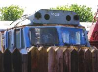 The remaining cab section of 50037 <I>Illustrious</I> in the yard�at Boness on 22 May. The locomotive, which entered service with BR in September 1968 (originally D437), was given its name in June 1978. She enjoyed her last couple of years in the South West of England [See image 13243] before being cut up at MC Metals, Glasgow, in 1991. The cab may form a future museum exhibit.<br><br>[David Forbes&nbsp;22/05/2009]