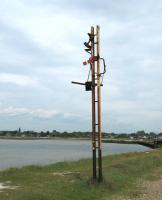 Remains of signal post on Hayling Island at South end of bridge to mainland.<br><br>[Alistair MacKenzie 17/06/2009]