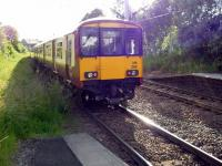 318 266 departs west from Hamilton Central on 16 June into the setting sun<br><br>[John Steven&nbsp;16/06/2009]