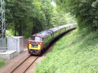The <I>Western Chieftain</I> railtour passes Collessie on 21 June.<br><br>[Brian Forbes&nbsp;21/06/2009]