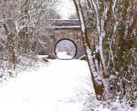 The station at Milton of Campsie on a snowy March day in 2009. Opened in 1848 it served the village for just over a century until the line was closed to passenger traffic in 1951.<br><br>[David Forbes&nbsp;/03/2009]