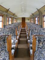 Inside one of the Teak coaches. You don't see decor like this nowadays!!<br><br>[Colin Harkins&nbsp;20/06/2009]