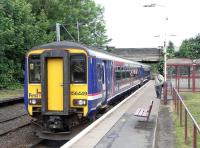 156 449 pulls in to Corkerhill with a Glasgow Central service 20 June 2009<br><br>[David Panton&nbsp;20/06/2009]