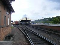 View towards the station from the authorized walking route past Boness Signal box.<br><br>[Colin Harkins&nbsp;20/06/2009]