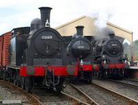 Impressive steam lineup at Boness on 20 June 2009.<br><br>[Brian Forbes&nbsp;20/06/2009]
