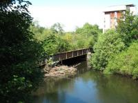 Bridge over River Kelvin from former site of Transport Museum on south side to Partick Central Station side.<br><br>[Alistair MacKenzie&nbsp;23/06/2009]