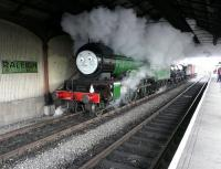 Ex-LNER no 246 <I>Morayshire</I> steaming through the train shed at Boness on <I>A Day Out with Thomas</I> on 16 May 2009<br><br>[Ken Browne&nbsp;16/05/2009]