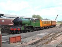 <I>Morayshire</I> at Bo'ness on 20 June with the LNER teak set.<br><br>[Brian Forbes&nbsp;20/06/2009]