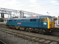 87002 'Royal Sovereign' pauses at Crewe on 25 June while en route from Willesden to Warrington light engine.<br><br>[Michael Gibb&nbsp;25/06/2009]