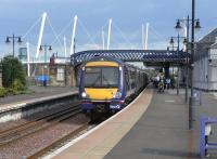 A 170 and a 158 form a Glasgow to Alloa commuter service at Stirling platform 6 on 16 June. Still busy leaving Stirling, I wonder what it was like leaving Glasgow...<br><br>[David Panton&nbsp;16/06/2009]