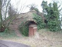 Remains of the old Harelaw limekiln at Longniddry in January 2003. Once rail connected (with its own internal tramway) to the Haddington branch. Harelaw Lime Works.<br> <br><br>[James Young&nbsp;18/01/2003]