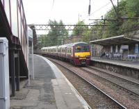 320 311 arrives at High Street on 20 June 2009 with a Springburn to Dalmuir Service.<br><br>[David Panton&nbsp;20/06/2009]
