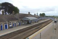 Looking over Inverurie station on 15 June 2009 in the general direction of Inverness.<br><br>[David Panton&nbsp;15/06/2009]