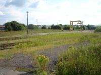 View over the goods yard at Elgin East on 26 June 2009.<br><br>[David Pesterfield&nbsp;26/06/2009]