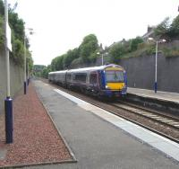 In the day's only brief spell of quasi-sunshine, Aberdeen bound 170 425 pulls into the platform at Arbroath on 15 June 2009.<br><br>[David Panton&nbsp;15/06/2009]