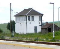The signal box at the north end of Inverurie station, photographed on 15 June 2009.<br><br>[David Panton&nbsp;15/06/2009]