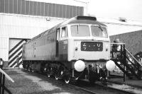 Immaculate Class 47 no 1969 on display at the south end of Eastfield depot during the Open Day held there on 16 September 1972.<br><br>[John McIntyre&nbsp;16/09/1972]