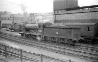 Reid ex-NBR <I>Scott</I> class 4-4-0 no 62428 <I>The Talisman</I>, seen coming off Hawick shed in May 1958, the year of its withdrawal by BR.<br><br>[Robin Barbour Collection (Courtesy Bruce McCartney)&nbsp;24/05/1958]