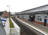 The Up platform and (left) booking hall at Berwick on 17 June 2009.<br><br>[David Panton&nbsp;17/06/2009]